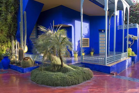 Jardin Majorelle Owned By Yves St Laurent Marrakech Morocco