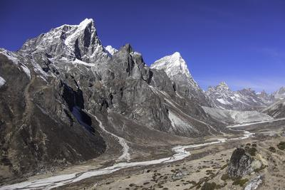 The Himalayan Peaks of Taboche and Arakam Tse Above the Chola Valley in Sagarmatha National Park