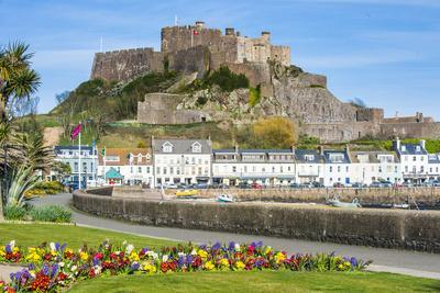 The Town of Mont Orgueil and its Castle, Jersey, Channel Islands, United Kingdom