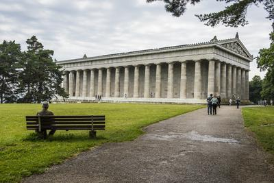 Neo-Classical Walhalla Hall of Fame on the Danube. Bavaria, Germany