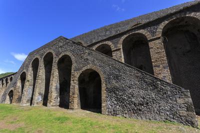 Amphitheatre Exterior Detail, Roman Ruins of Pompeii, UNESCO World Heritage Site, Campania, Italy