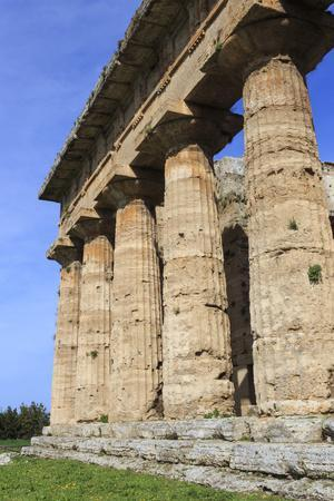Temple of Neptune, 450 Bc, Largest and Best Preserved Greek Temple at Paestum, Campania, Italy