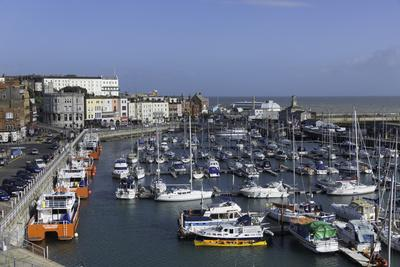 View of the Royal Harbour and Marina at Ramsgate, Kent, England, United Kingdom