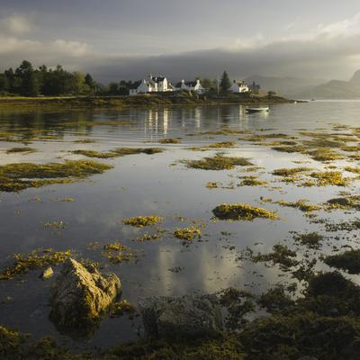 Dawn View of Plockton Harbour and Loch Carron Near the Kyle of Lochalsh in the Scottish Highlands