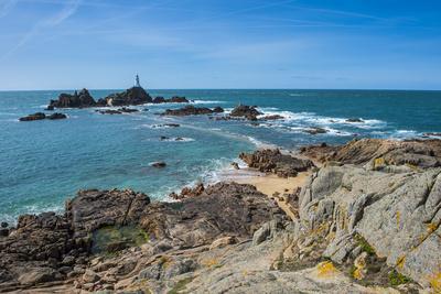 La Corbiere Lighthouse, Jersey, Channel Islands, United Kingdom