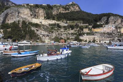 Fishing Boats in Amalfi Harbour