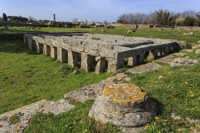 Gymnasium with Swimming Pool, Paestum, Ancient Greek Archaeological Site, Campania, Italy