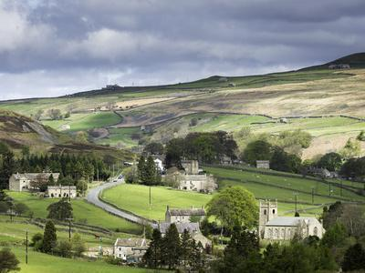 View of the Village of Langthwaite in Arkengarthdale, Yorkshire, England, United Kingdom