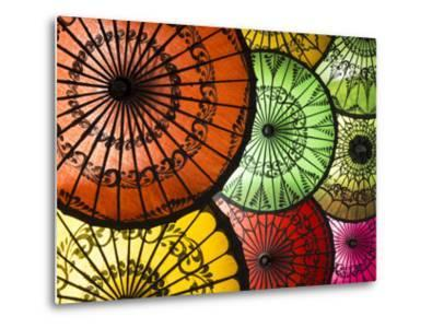 Colourful Painted Umbrellas, Parasols Made from Paper and Bamboo, Nyaung-U
