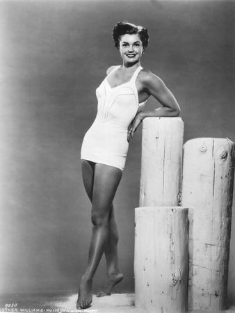 American Actress Esther Williams Wearing a Bath Suit C. 1954