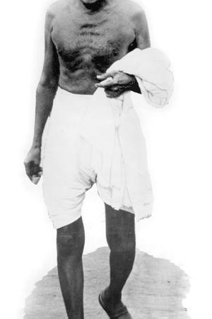 Mahatma Mohandas Karamchand Gandhi (1869-1948) Indian Independantist Leader, Hindu Spiritual Leader