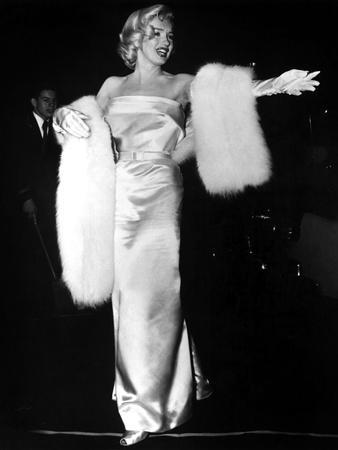 """Marilyn Monroe at Premiere of Film """"Call Me Madam"""" on March 4, 1953"""