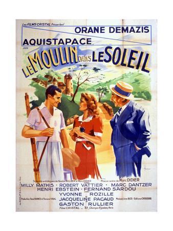 Affiche Du Film Le Moulin Dans Le Soleil De Marcdidier 1938