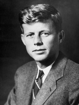 John Fitzgerald Kennedy (1917-1963) Future American President Here C. 1940
