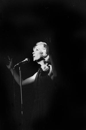 French Singer Betty Mars on Stage in Bobino, Paris, February 1972