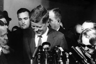 American President John F. Kennedy During a Press Conference, November 29, 1960