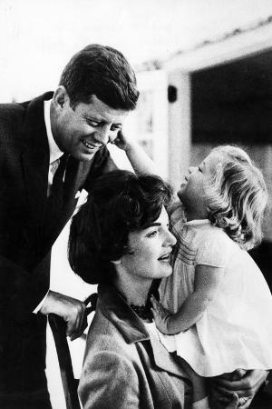 John and Wife Jackie Kennedy with their Daughter Caroline in USA in 1961