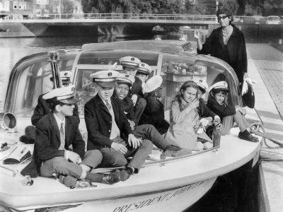 Josephine Baker (1906-1975) and Her Children on a Boat in Amsterdam on October 5, 1964