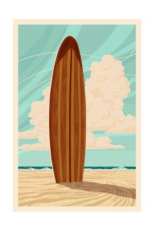 Surfboard - Letterpress