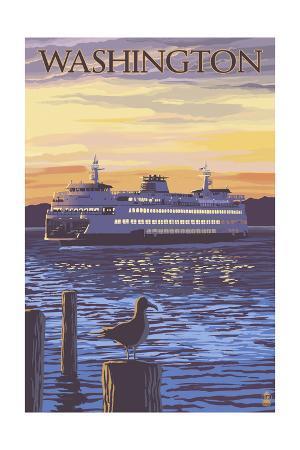 Washington - Ferry and Sunset