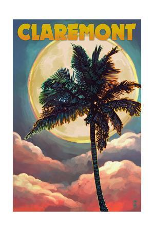 Claremont, California - Palm and Moon