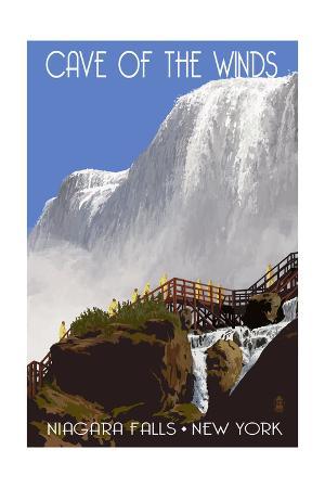 Niagara Falls, New York - Cave of the Winds Close Up