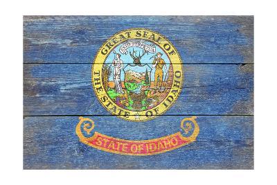 Idaho State Flag - Barnwood Painting