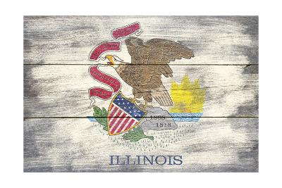 Illinois State Flag - Barnwood Painting