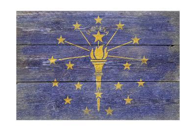 Indiana State Flag - Barnwood Painting