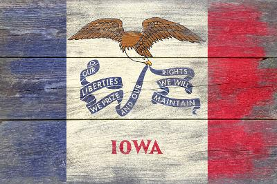 Iowa State Flag - Barnwood Painting