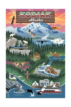 Kodiak, Alaska - Retro Scenes