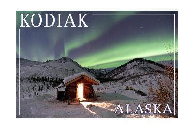 Kodiak, Alaska - Northern Lights and Cabin