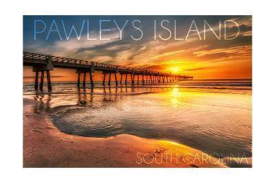 Pawleys Island, South Carolina - Pier and Sunset