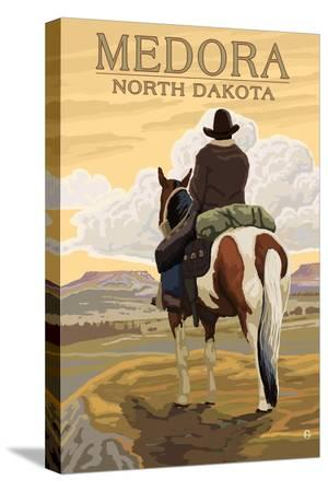 Medora, North Dakota - Cowboy on Ridge
