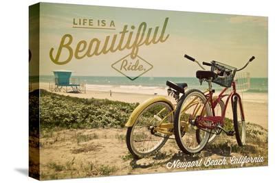 Newport Beach, California - Life is a Beautiful Ride - Bicycles and Beach Scene