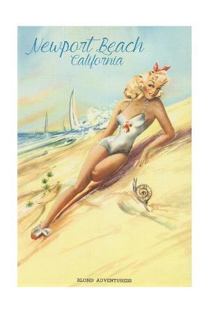 Newport Beach, California - Vintage Pinup