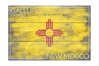 Gallup, New Mexico State Flag - Barnwood Painting