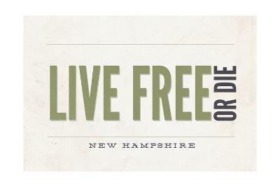 Live Free or Die - New Hampshire (Tan)