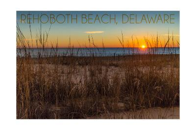 Rehoboth Beach, Delaware - Beach and Sunrise