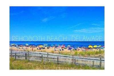 Rehoboth Beach, Delaware - Beach and Umbrellas