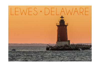 Lewes, Delaware - Cape Henlopen Lighthouse Sunset