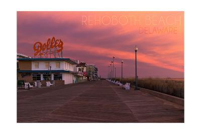 Rehoboth Beach, Delaware - Dolles and Sunset