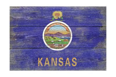 Kansas State Flag - Barnwood Painting