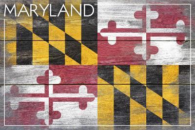 Maryland State Flag - Barnwood Painting