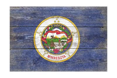 Minnesota State Flag - Barnwood Painting