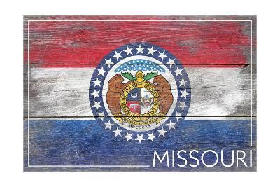 Missouri State Flag - Barnwood Painting