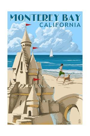 Monterey Bay, California - Sandcastle