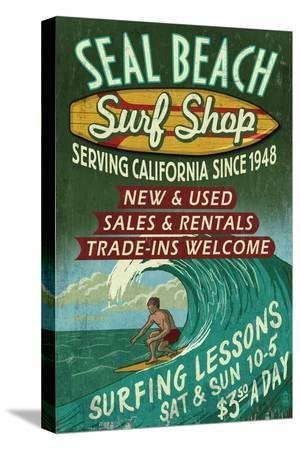 Seal Beach, California - Surf Shop Vintage Sign