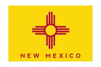 New Mexico State Flag - Letterpress