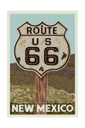 New Mexico - Route 66 Letterpress
